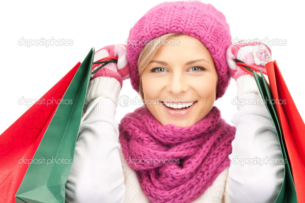 Picture of lovely woman with shopping bags — Stock Photo #7253136