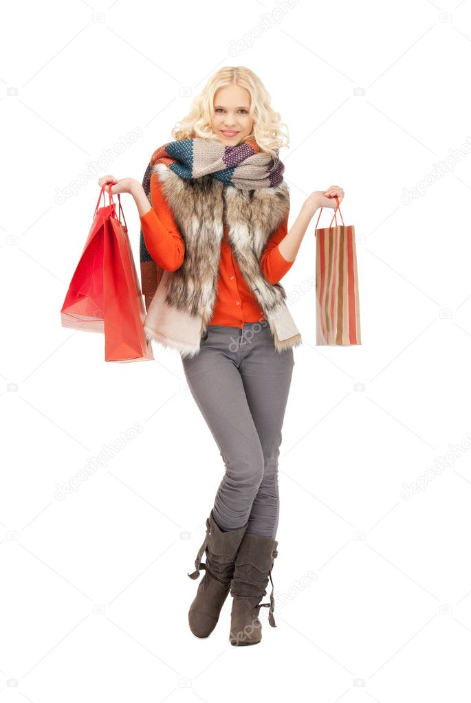 Picture of lovely woman with shopping bags — Stock Photo #7253345