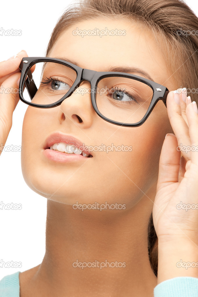 Closeup picture of lovely woman in spectacles — Stock Photo #7267599