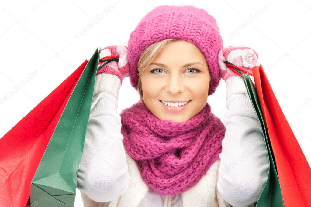 Picture of lovely woman with shopping bags — Stock Photo #7279830