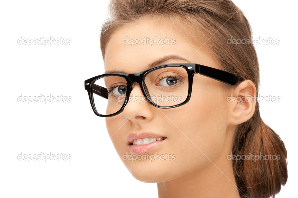Closeup picture of lovely woman in spectacles  Stock Photo #7304138