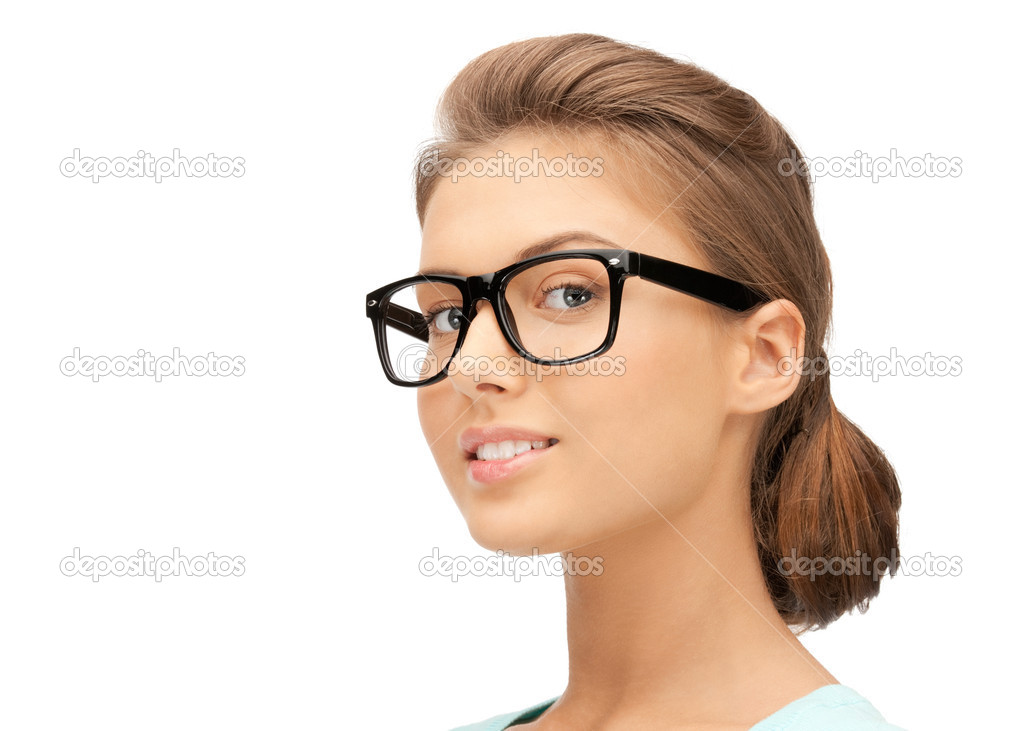 Closeup picture of lovely woman in spectacles — Stock Photo #7311906