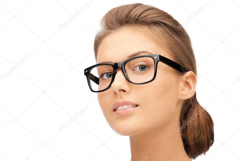 Closeup picture of lovely woman in spectacles — Stock Photo #7338947