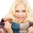 Beautiful woman in muffler - Stock Photo