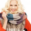 Stock Photo: Beautiful woman in muffler