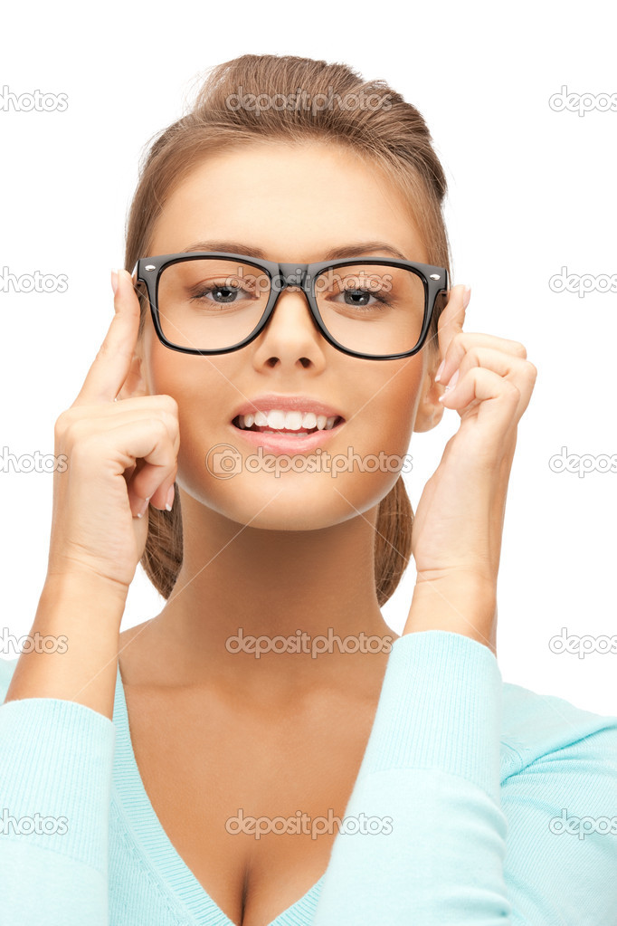 Closeup picture of lovely woman in spectacles — Stock Photo #7478010