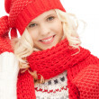 Beautiful woman in hat, muffler and mittens — Stock Photo #7533884