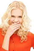 笑的女人 — 图库照片