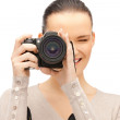 Royalty-Free Stock Photo: Teenage girl with digital camera