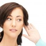 Woman listening gossip — Stock Photo #7705470