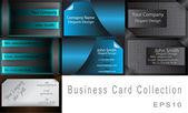 Elegant Vector Business Card Set — Stock Vector