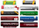Vector Web Buttons Set — Stock Vector