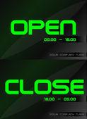 Door Banner — Stock Vector