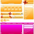 Vector Website Template — Stock Vector