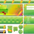 Stock Vector: Vector Website Template