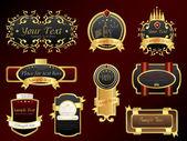 Golden Vectors Banner Set — Stock Vector