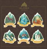 雄伟的阿拉斯加. — 图库矢量图片
