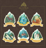 Majestic Alaska. — Vector de stock