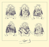 Natur von alaska — Stockvektor