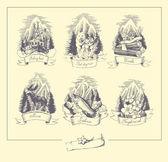 阿拉斯加的性质 — 图库矢量图片