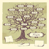 Family tree. — Vettoriale Stock