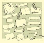 Paper pieces. — Stock Vector