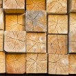 Stock Photo: Wooden beams in stacks