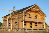 Building the house — Stock Photo