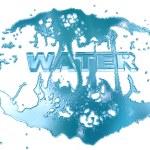 lettere di acqua — Foto Stock
