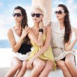Young beauty friends on vacation day — Stock Photo #7466265