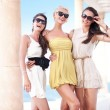 Young beauty friends on vacation day - Stock Photo