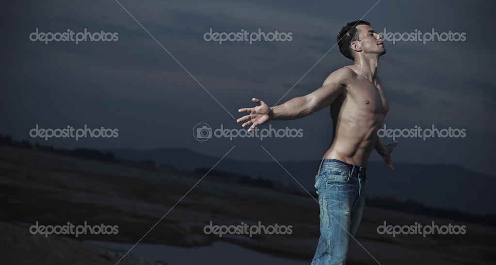 Emotive portrait of an handsome man — Stock Photo #7466662