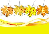 осенние листья для продажи гранж — Cтоковый вектор