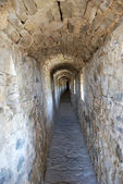 Corridor in wall old castle — Stock Photo