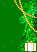Green new year's background — Cтоковый вектор