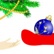 Santpresents christmas ball — Stock Vector #7565671
