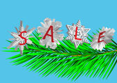Snowflake sale 4 — Stock Vector