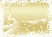 Christmas background gold — Stock Vector