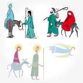 Illustration vector. Star of Bethlehem. Nativity — Stock Vector
