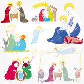 Vecteur d'illustration. étoile de Bethléem. Nativité — Vecteur