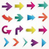 Configurar las flechas vector — Vector de stock