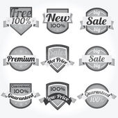 Premium Quality 100% Sales Free Labels with retro design — Stock Vector