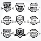 Premium 100 % ventes libre des Labels de qualité avec un design rétro — Vecteur