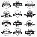 Premium Quality 100% Sales Free Labels with retro design — Stock Vector