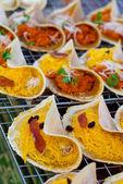 Thajské křupavé palačinky — Stock fotografie