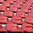 Red bleachers — Stock Photo