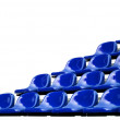 Blue bleachers — Stock Photo