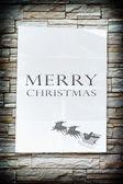 Le mot de Noël joyeux sur le papier froissé — Photo