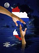 Help Thailand water flood — Stock Photo