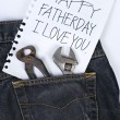 Note for dad in Father day — Stock Photo
